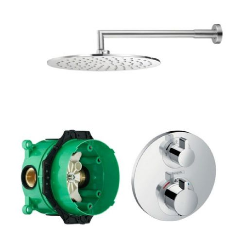Abacus Emotion Plus Thermostatic Concealed Shower Kit With Round Shower Head